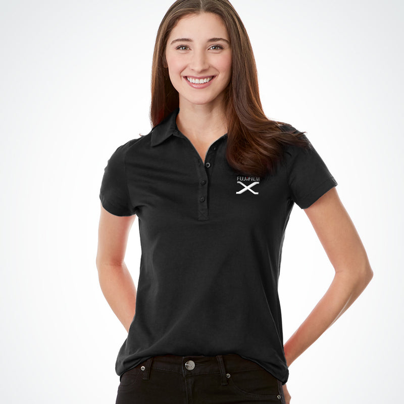 FUJIFILM X SERIES LADIES' POLO - BLACK