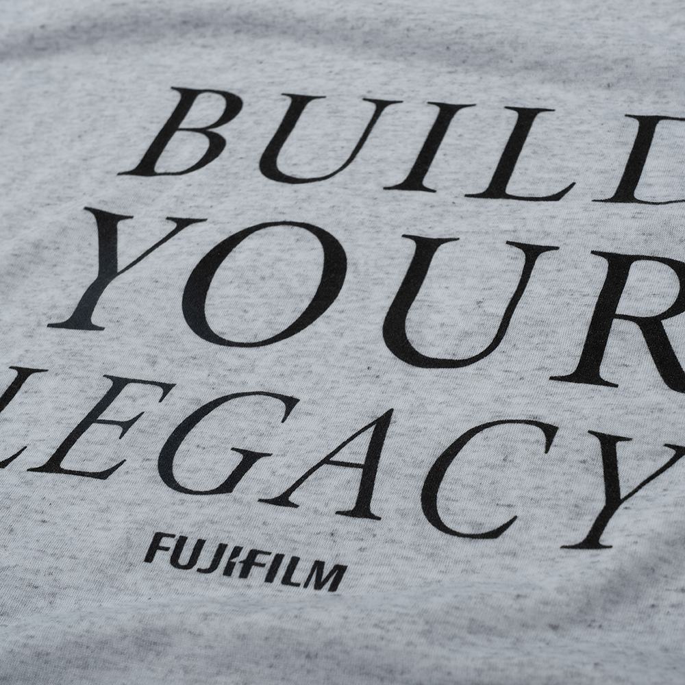 BUILD YOUR LEGACY MEN'S T-SHIRT - WHITE FLECK