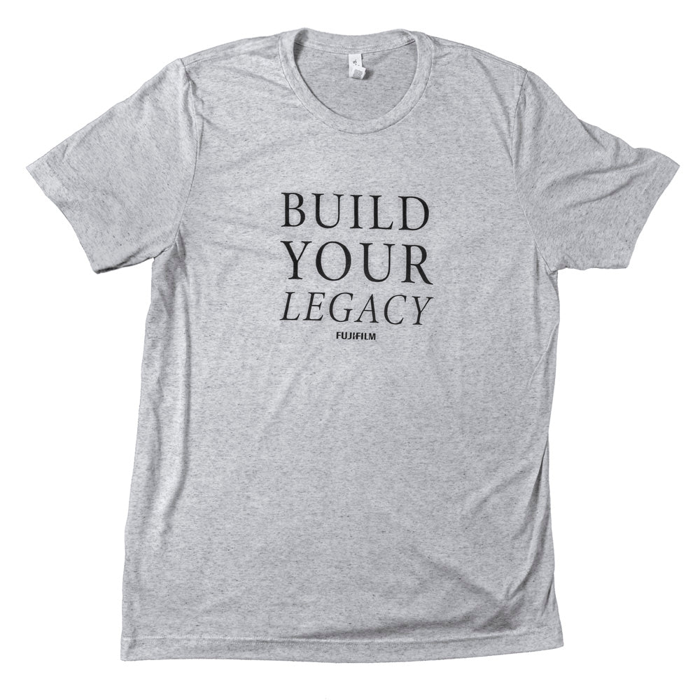 BUILD YOUR LEGACY LADIES' T-SHIRT - WHITE FLECK