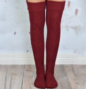 Over The Knee Knit Socks ( Buy 2 Get Extra 10% Off )