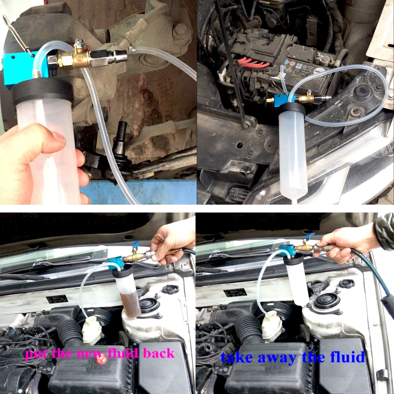 Auto Car Brake Fluid Replacement Tool/Brake Fluid Drained Bleeder tool Equipment Kit