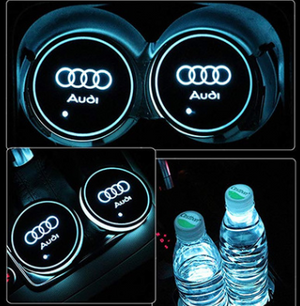 7 Colors Led Car Logo Cup Coaster ( Buy 2 Get Extra 10% Off )