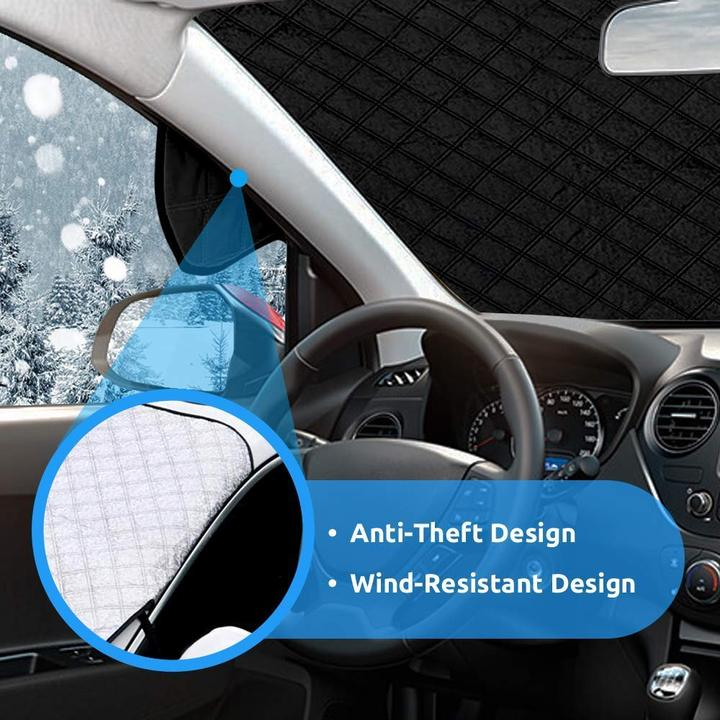 Universal Premium Windshield Snow Cover Sunshade ( With Ear Flaps ) ( Buy 2 Get Extra 10% Off )