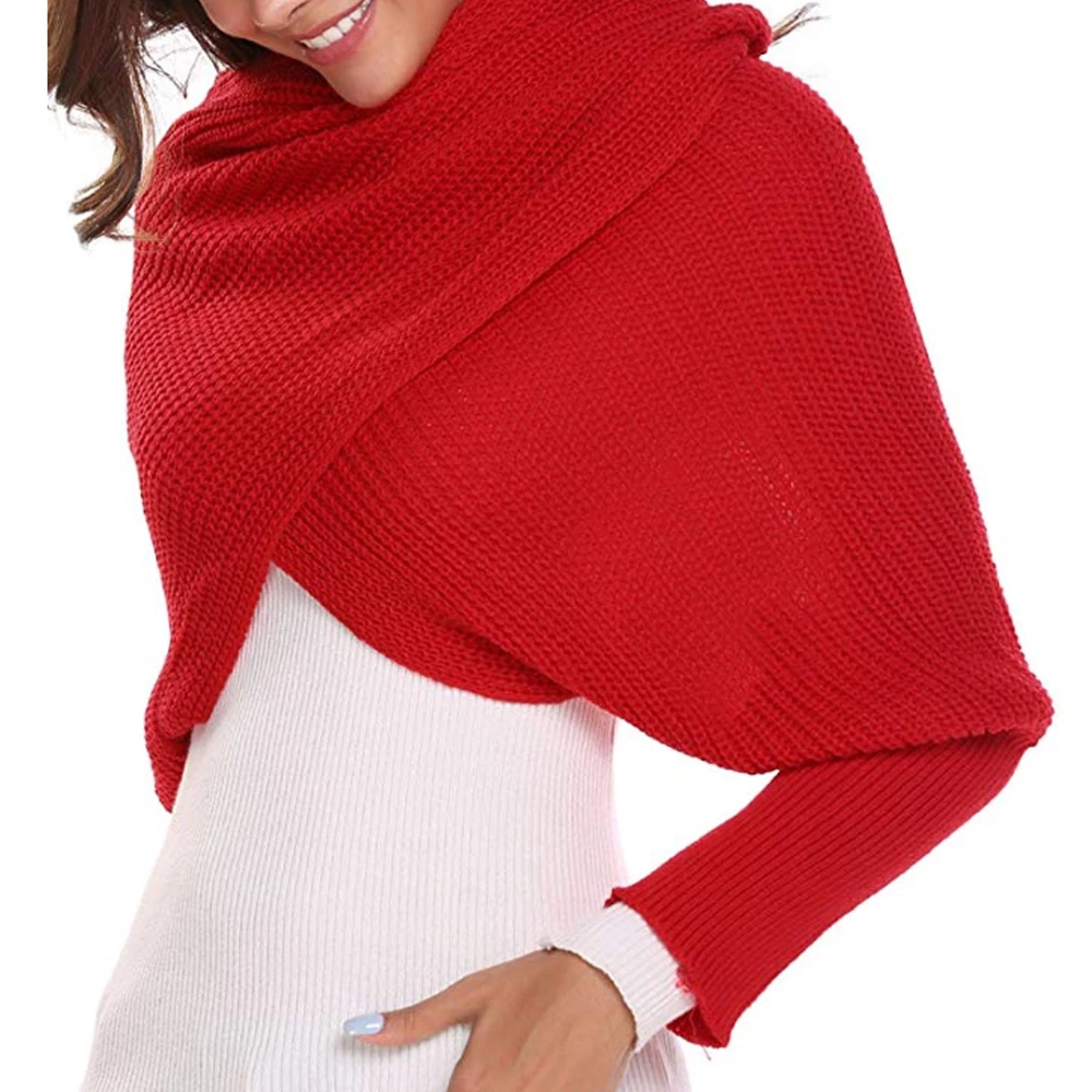 Autumn&Winter Fashion Crochet Knitted Scarf Shawl with Sleeves ( Buy 2 Get Extra 10% Off )