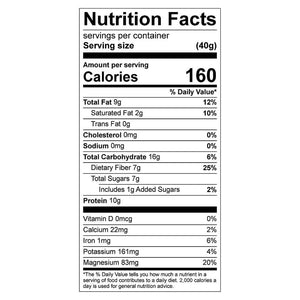 Rez Bar Nutrition Facts