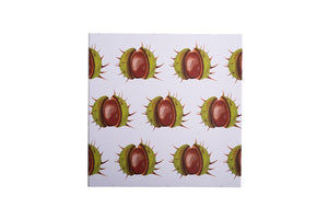 White Conker Greetings Card