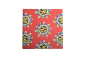 Coral Passion Flower Greetings Card