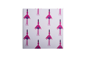 White Fuchsia Greetings Card