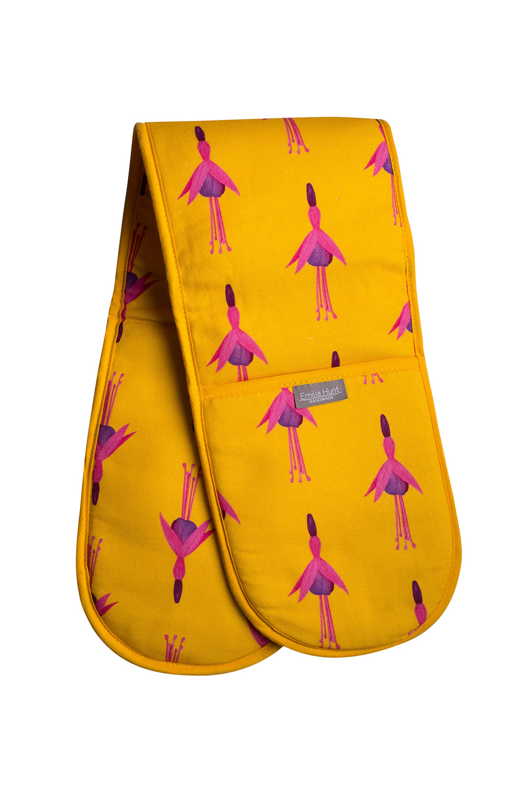 Ochre Fuchsia Double Oven Gloves