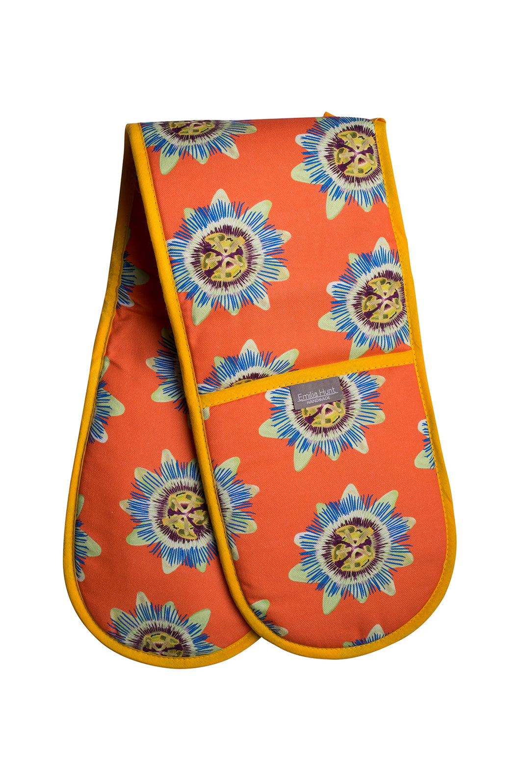 Coral Passion Flower Double Oven Gloves