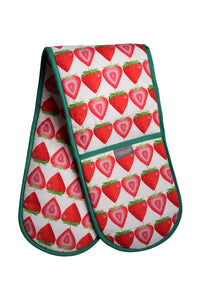 Strawberry Double Oven Gloves