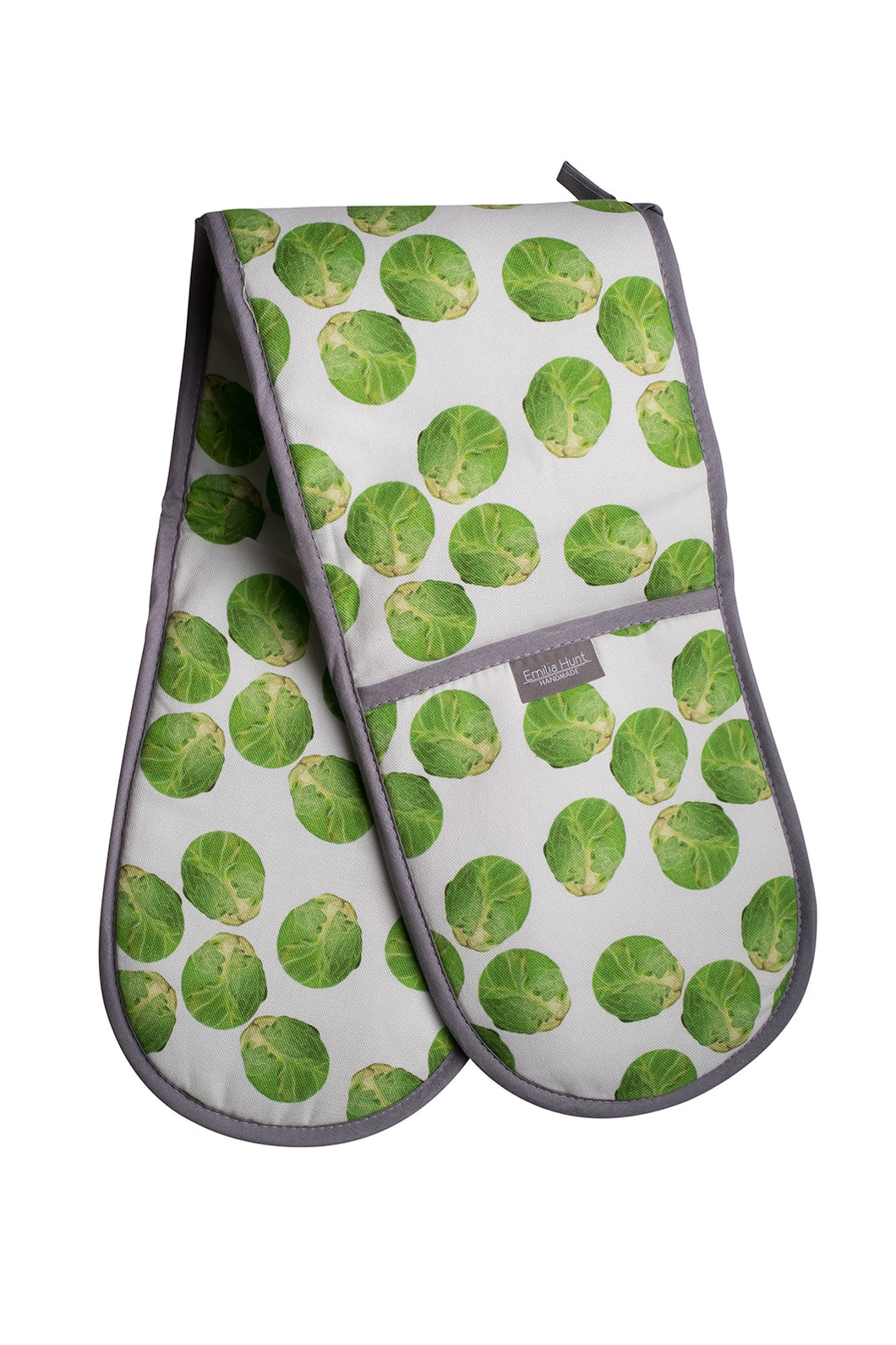White Sprout Double Oven Gloves