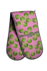 Pink Sprout Double Oven Gloves