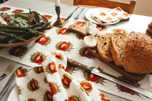 White Conker Table Runner