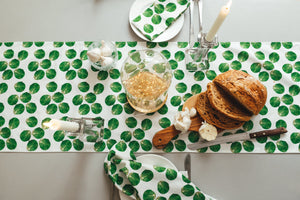 White Sprout Table Runner