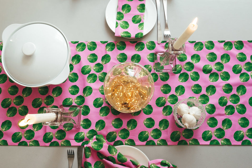 Pink Sprout Table Runner