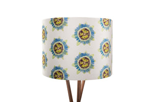 25cm White Passion Flower Velvet Lampshade
