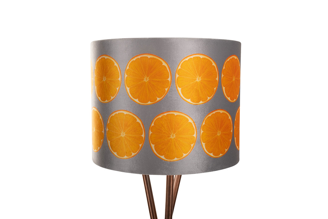 50cm Grey Orange Slice Velvet Lampshade
