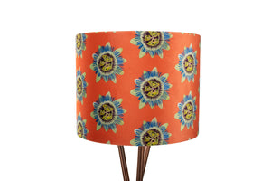 35cm Coral Passion Flower Velvet Lampshade