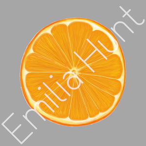 Orange Slice Cotton Fabric - Heavy