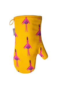 Ochre Fuchsia Single Oven Mitt