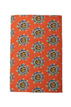 Coral Passion Flower Tea Towel