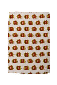 White Conker Tea Towel