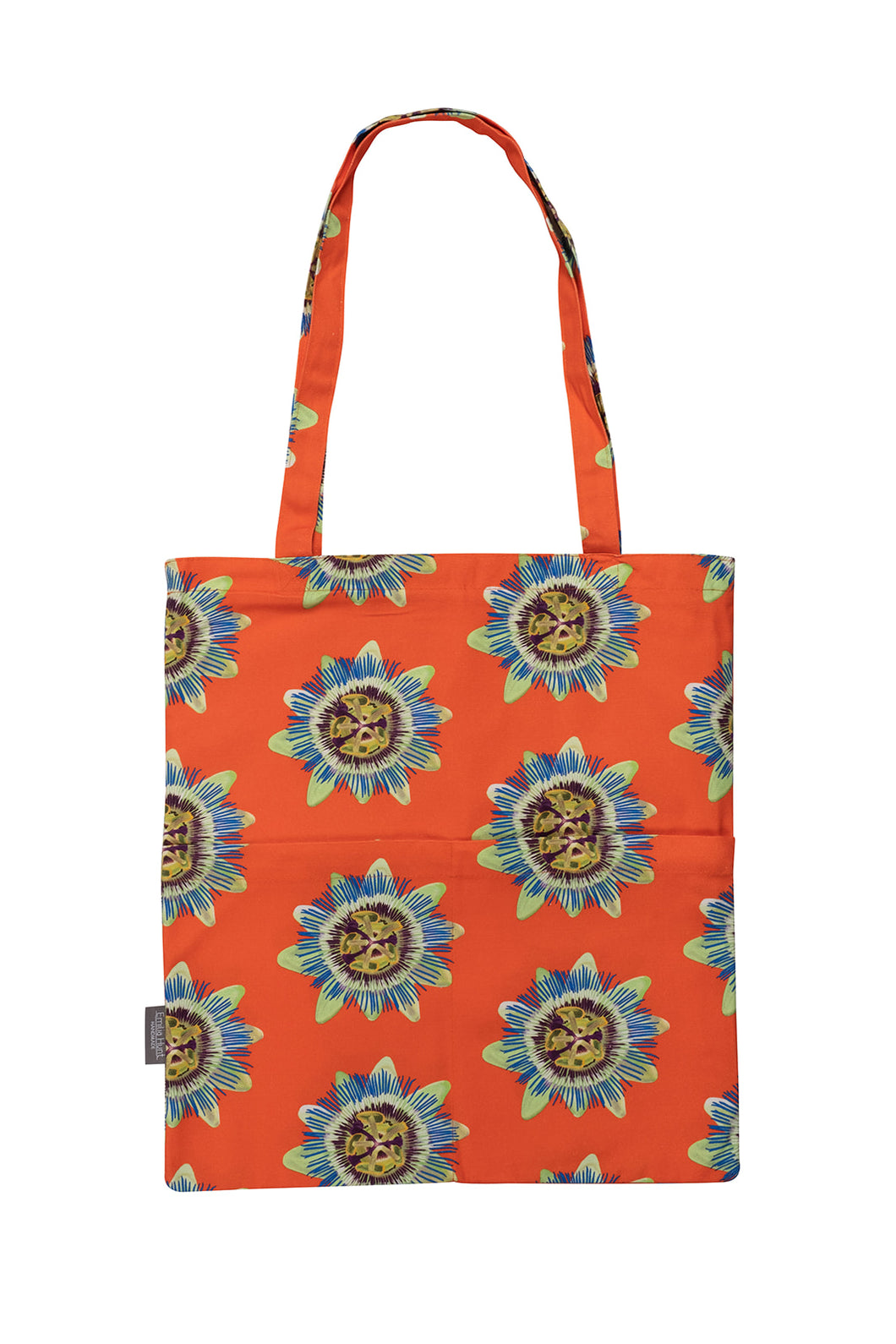 Coral Passion Flower Tote Bag