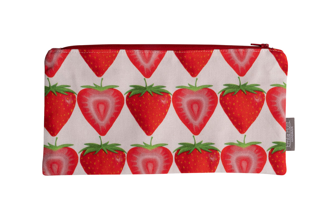 Strawberry Zip Pouch - Large