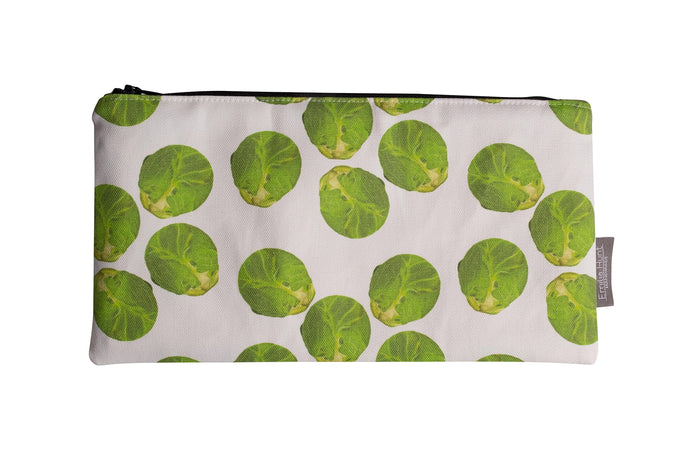 White Sprout Zip Pouch - Large