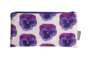 Pansy Zip Pouch - Large