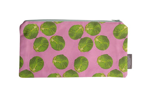 Pink Sprout Zip Pouch - Large