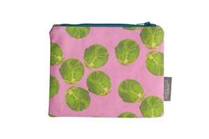 Pink Sprout Zip Pouch - Medium