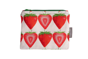 Strawberry Zip Pouch - Medium