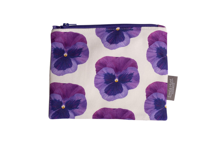 Pansy Zip Pouch - Medium