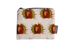 White Conker Zip Pouch - Medium