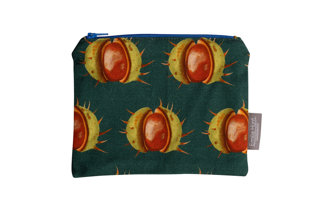 Green Conker Zip Pouch - Medium
