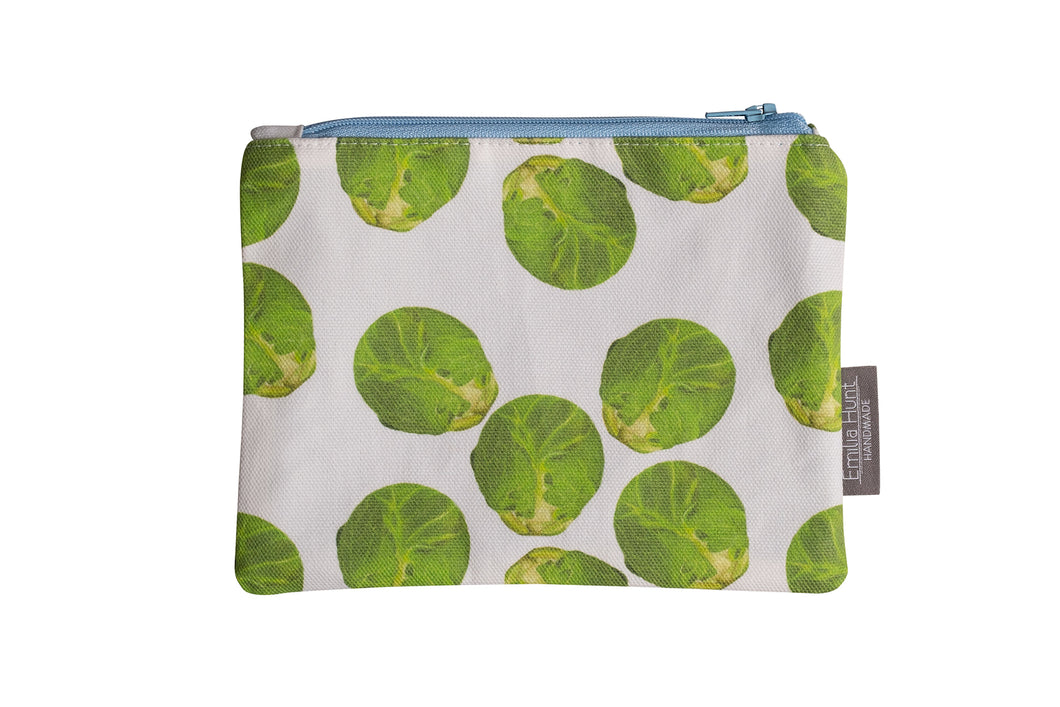 White Sprout Zip Pouch - Medium