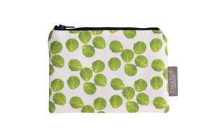 White Sprout Zip Pouch - Small