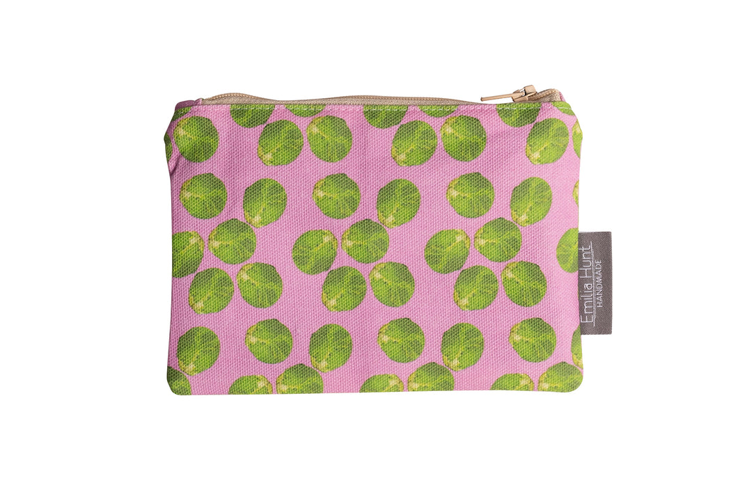 Pink Sprout Zip Pouch - Small