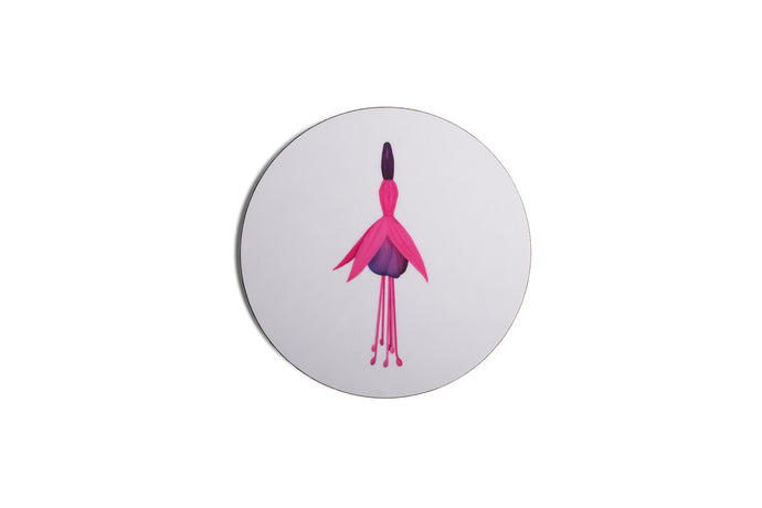White Fuchsia Coaster