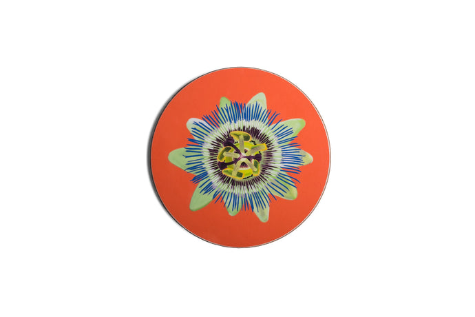 Coral Passion Flower Coaster