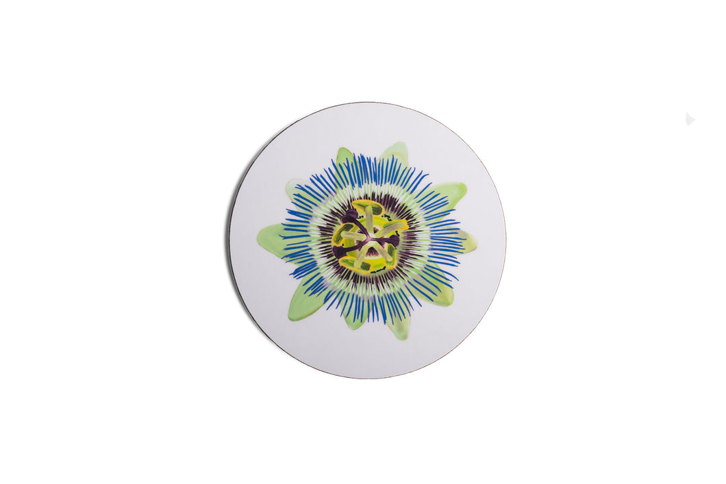 White Passion Flower Coaster