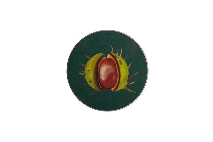 Green Conker Coaster