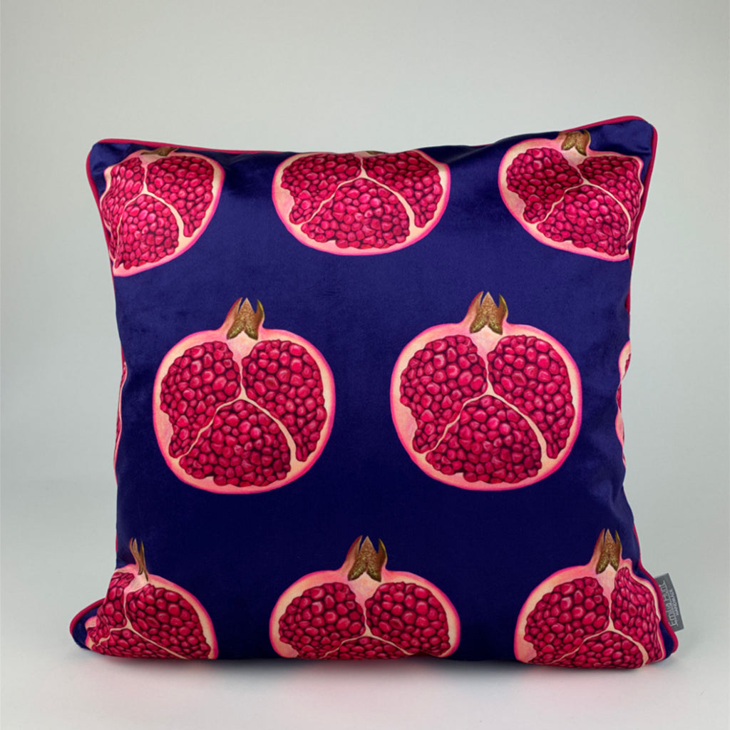 Pomegranate Velvet Cushion