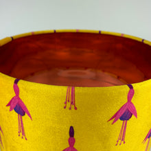 Load image into Gallery viewer, 35cm Ochre Fuchsia Velvet Lampshade