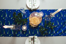 Navy Mistletoe Table Runner