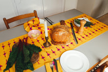 Fuchsia Table Runner - Ochre Yellow