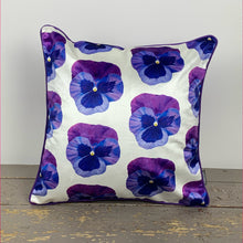 Load image into Gallery viewer, Pansy Velvet Cushion