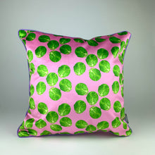 Load image into Gallery viewer, Pink Sprout Velvet Cushion